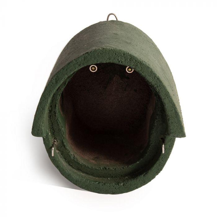 Fågelholk Alicante WoodStone® oval öppning - Grön