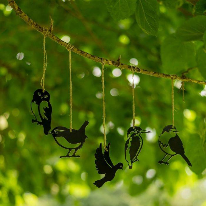 Metallsilhuetter Minifågelset