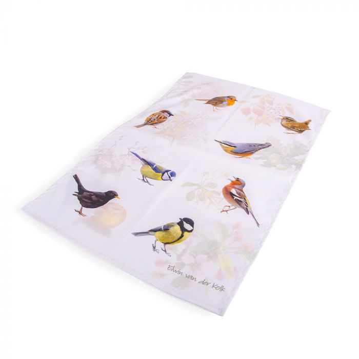 Kökshandduk Trädgårdsfåglar - Elwin van der Kolk