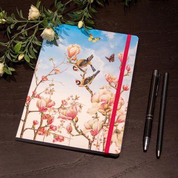 Anteckningsbok A5 med mjuk pärm, Magnolia av Janneke Brinkman