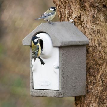 Fågelholk Sevilla WoodStone® oval öppning - Grå