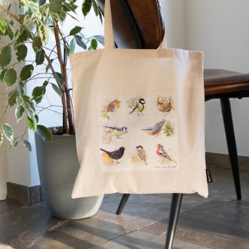 Bomullskasse Trädgårdsfåglar - Elwin van der Kolk