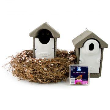 Fågelholk- paket WoodStone XXL