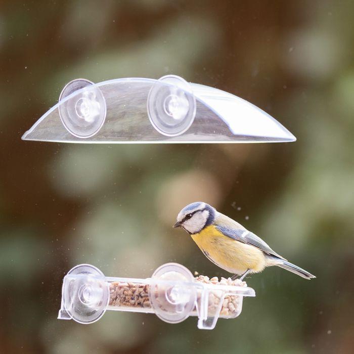Fågelbord för fönster Bordeaux