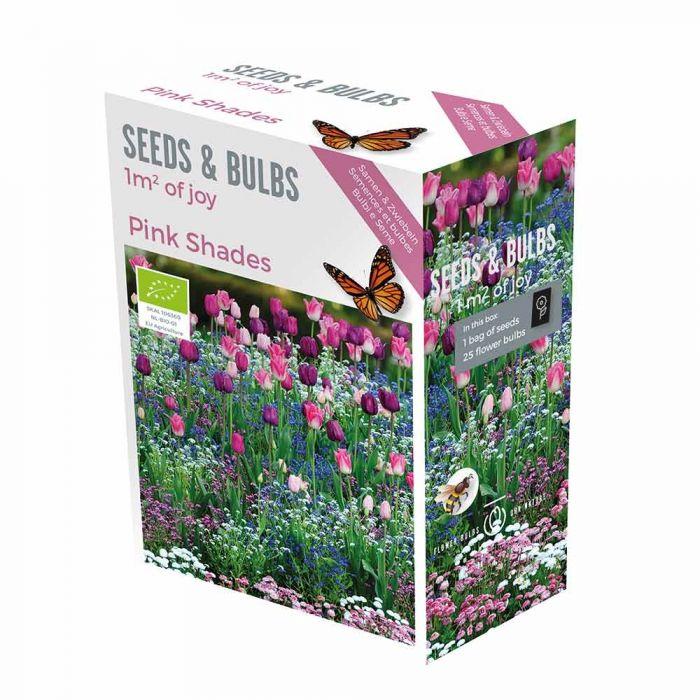 Frö- och lökväxtpaket, rosa