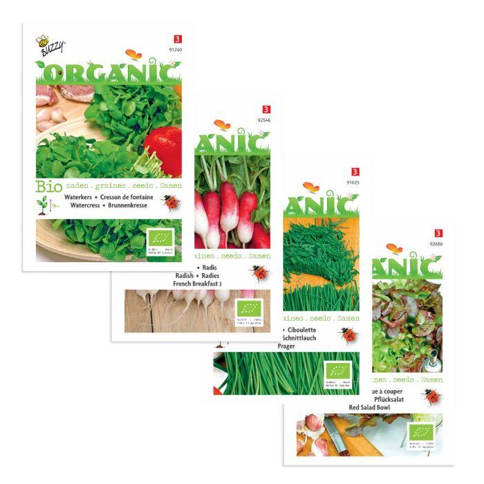 Ekologisk salladsblandning