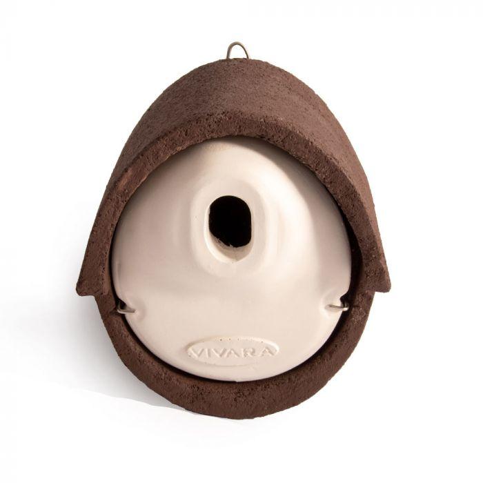 Fågelholk Alicante WoodStone oval öppning - Brun