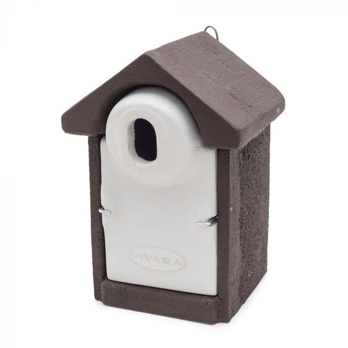 Fågelholk Sevilla WoodStone® oval öppning - Brun