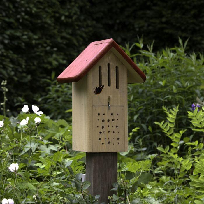 Bobox: Fjärilar & Solitärbin (grön & röd)
