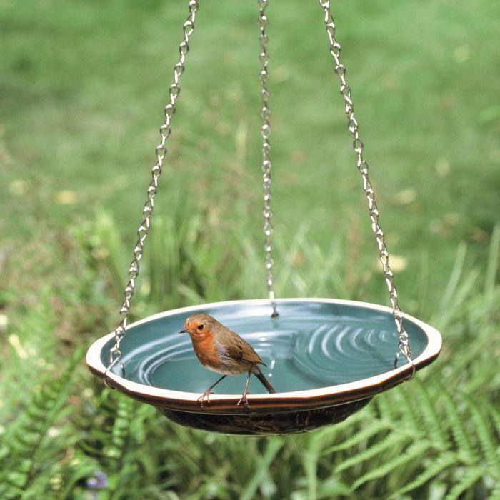 Hängande fågelbad